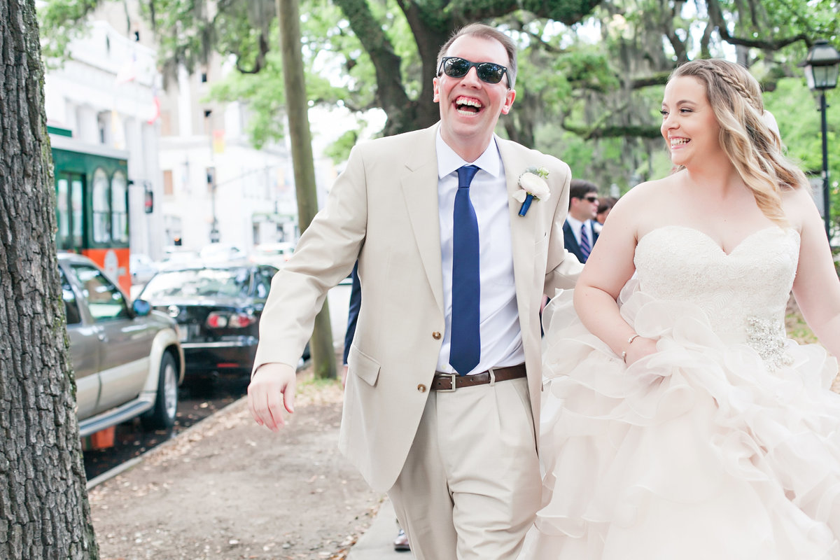 Savannah Marriott Riverside Spring Wedding Bride Groom