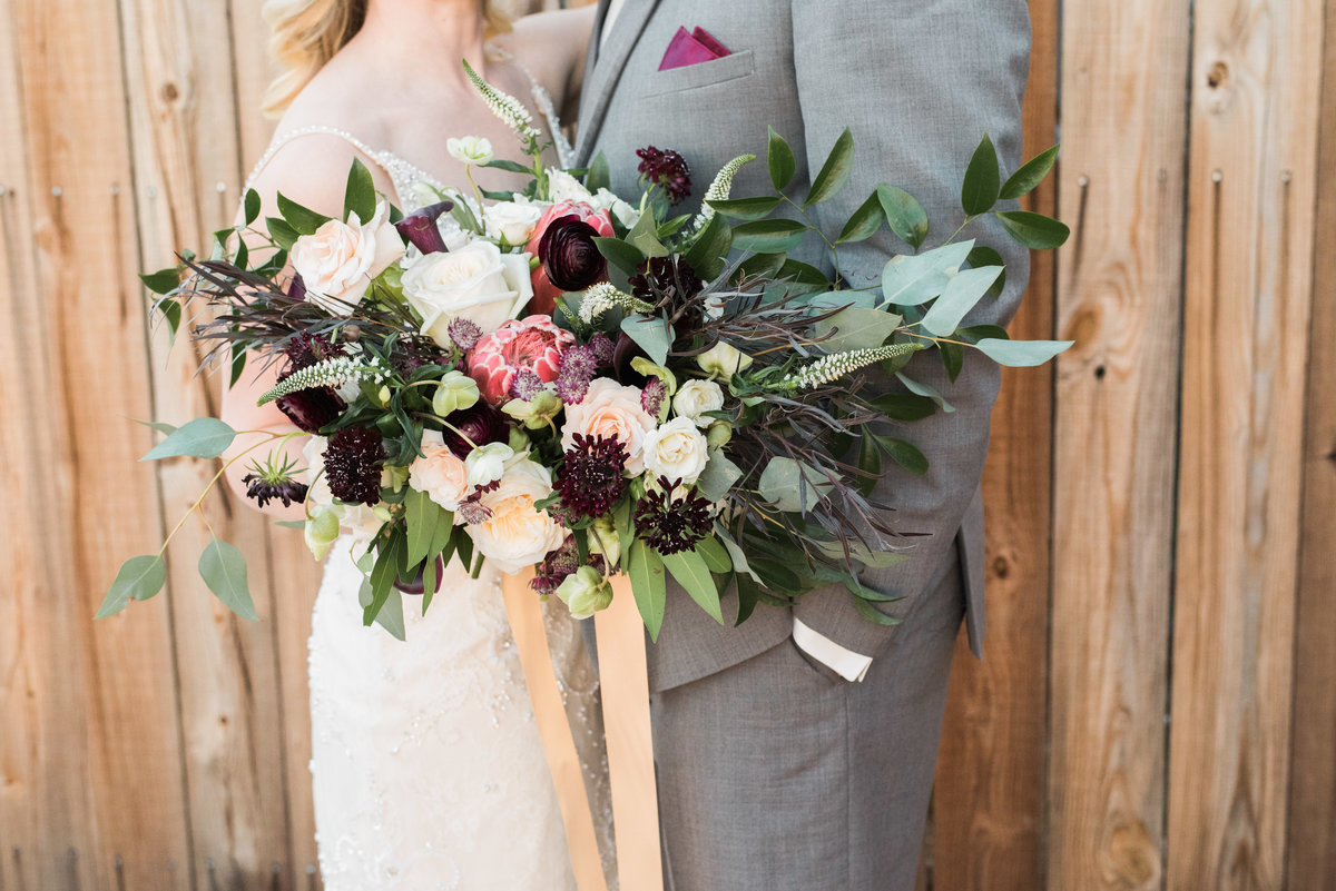large bridal bouquet with greenery