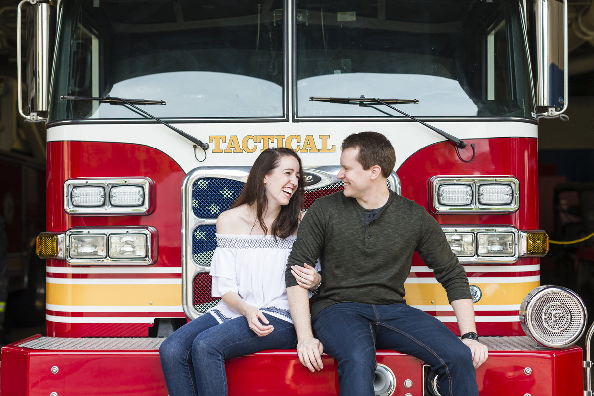 Fireman Engagement Session | Erika Brown Photography-1