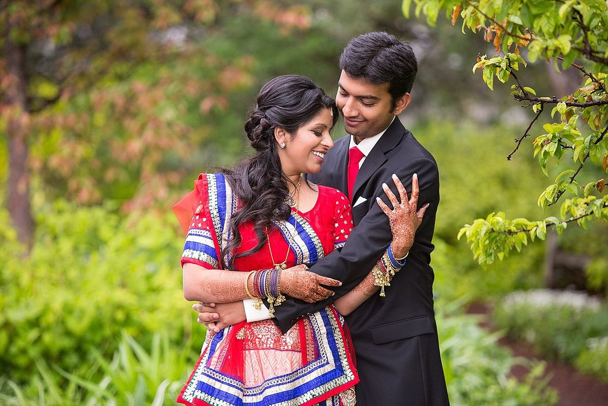 Colorado Indian Wedding Botanic Gardens Denver