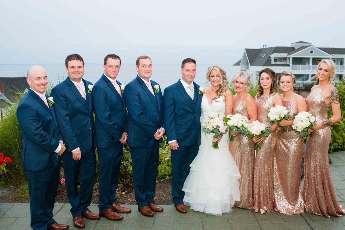 15 Navy and rose gold wedding colors at waters edge