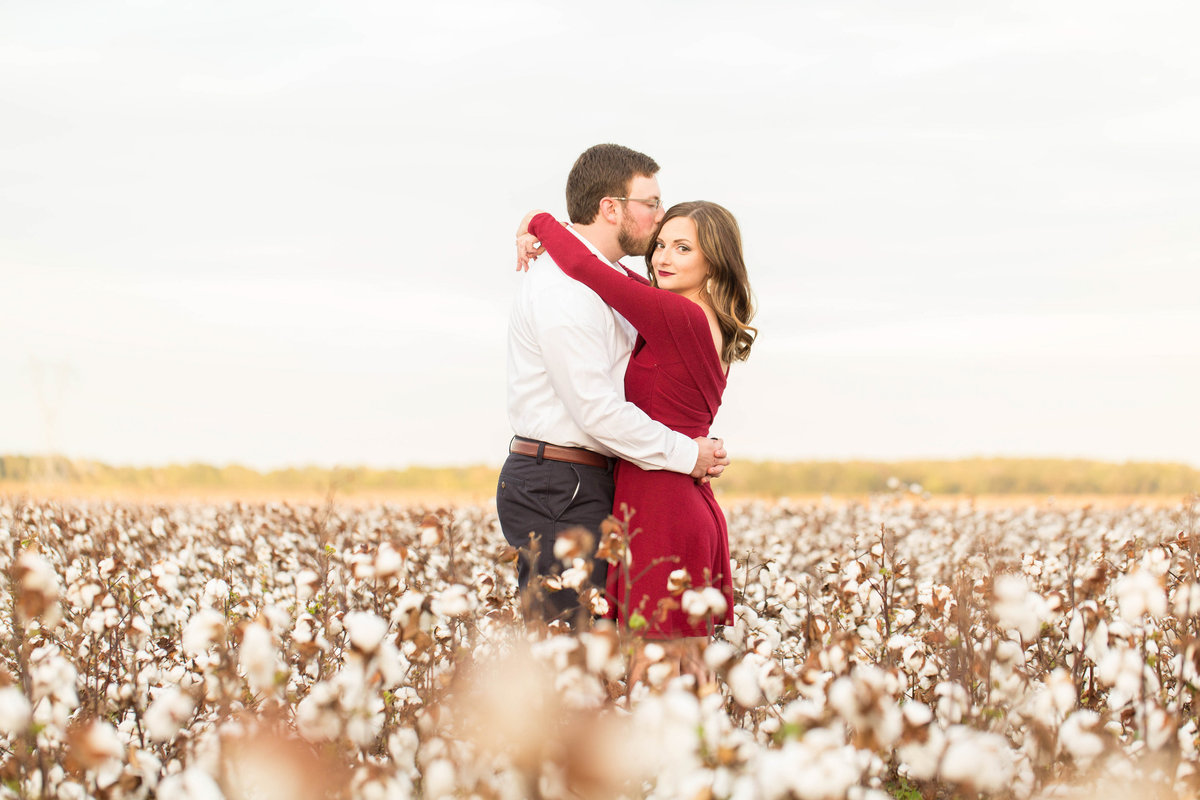 Cotton Field Engagement Photos