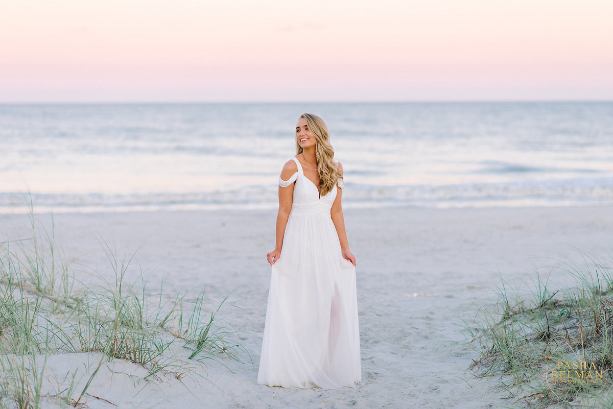 Beach Session in South Carolina for High School Senior Girls - White Dress Ideas for Girls