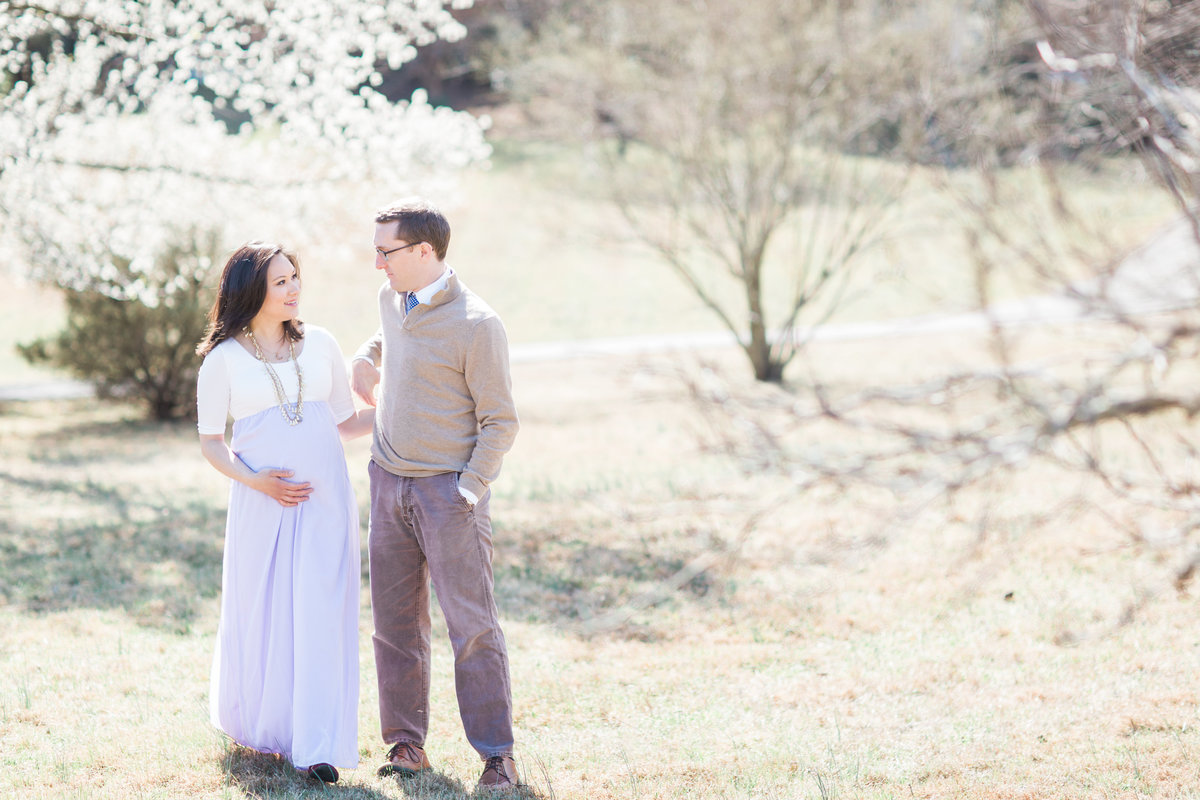 Virginia Maternity Photographer | Chelsea Schaefer Photography | Spring Maternity Session | holding hands walking