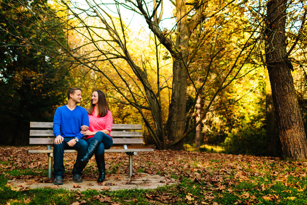 lincoln park engagement photographer seattle washington