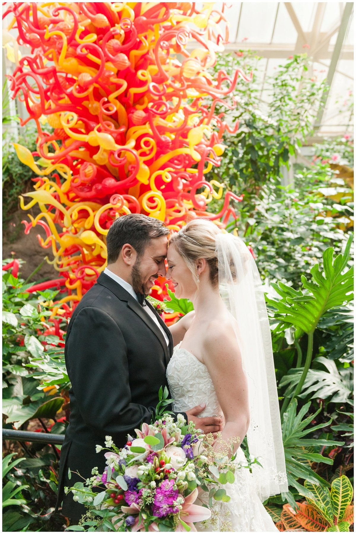 Franklin Park Conservatory Wedding The Palm House Bridal Garden Grove_0146