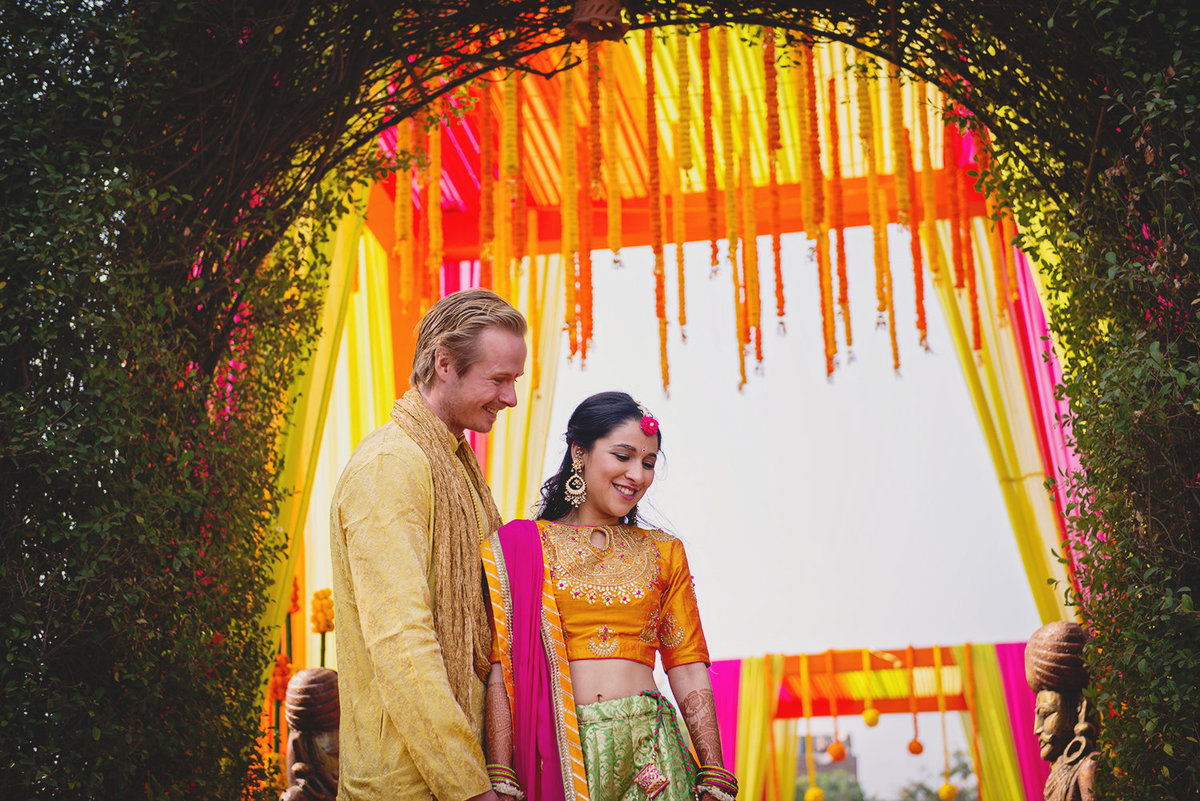 Divya and Daniel at their Mehendi  , Jai Mahal Palace