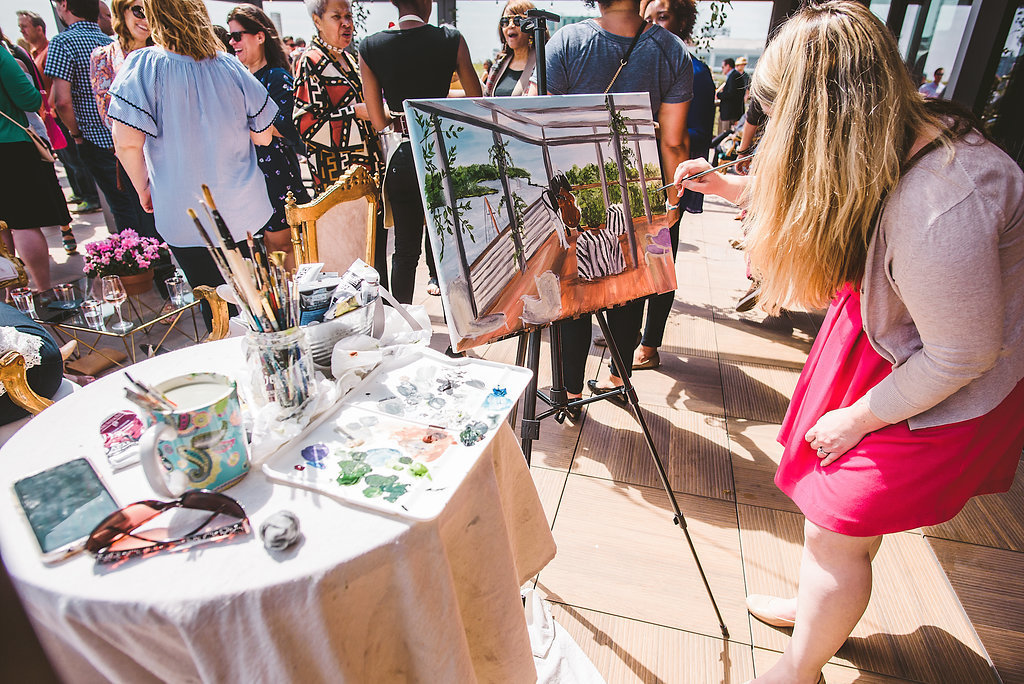 Live Wedding Painting District Winery Washington DC By Brittany Branson
