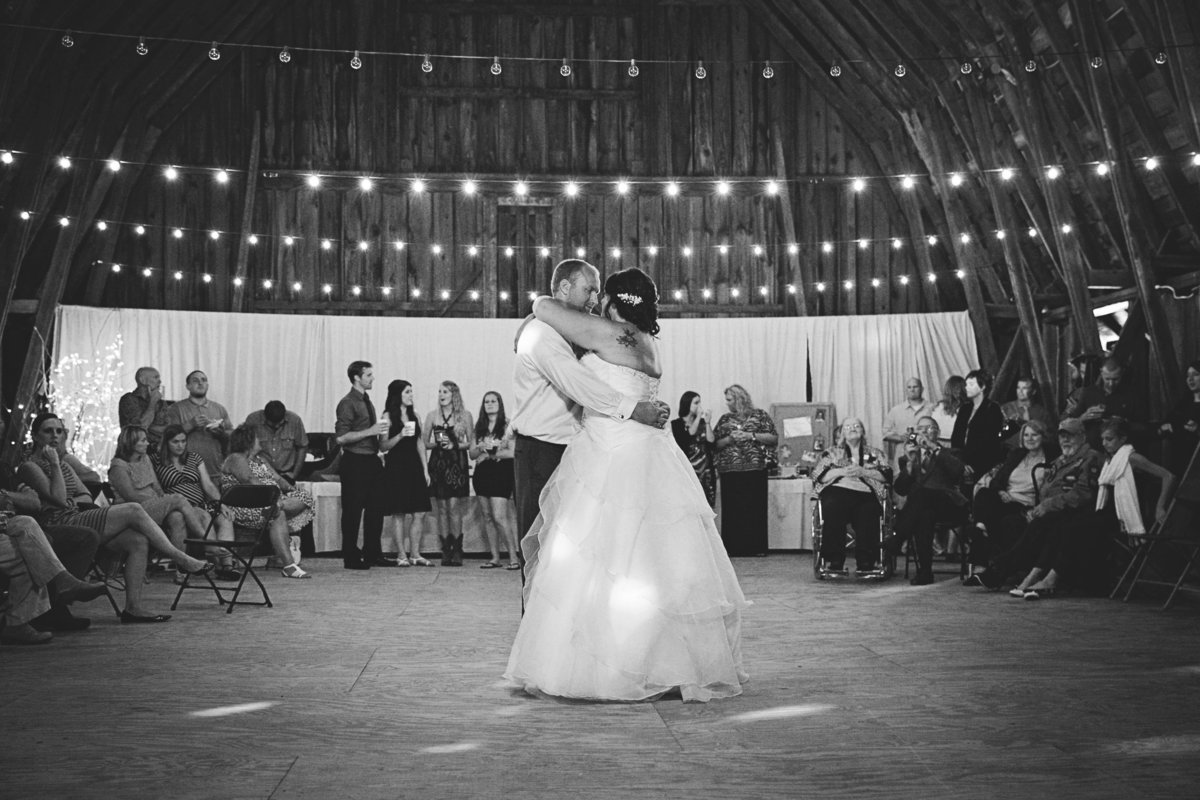 Rustic chic country barn wedding in the northwoods first dance reception Casi Lea Photography-green bay wedding photographer-door county wedding photographer-milwaukee wedding photographer-appleton wedding photographer-wisconsin weddings