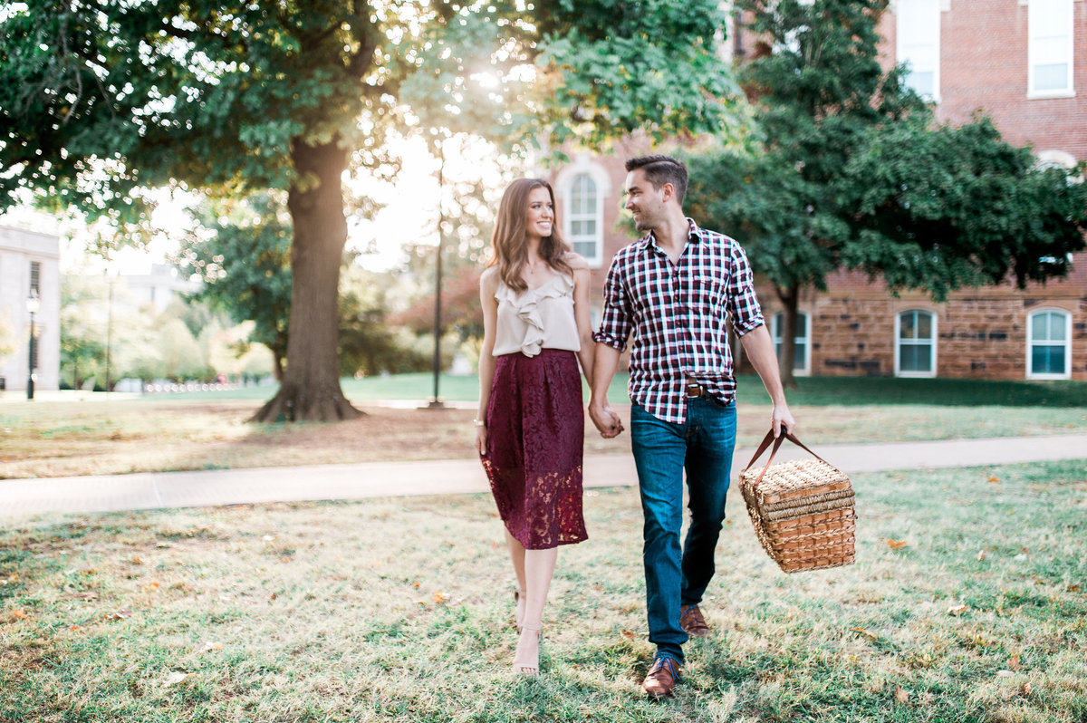 Bentonville and Fayetteville Engagement and wedding photographer, NWA wedding and engagement photographer, engaged couple in love kissing, engagement photo inspiration-27