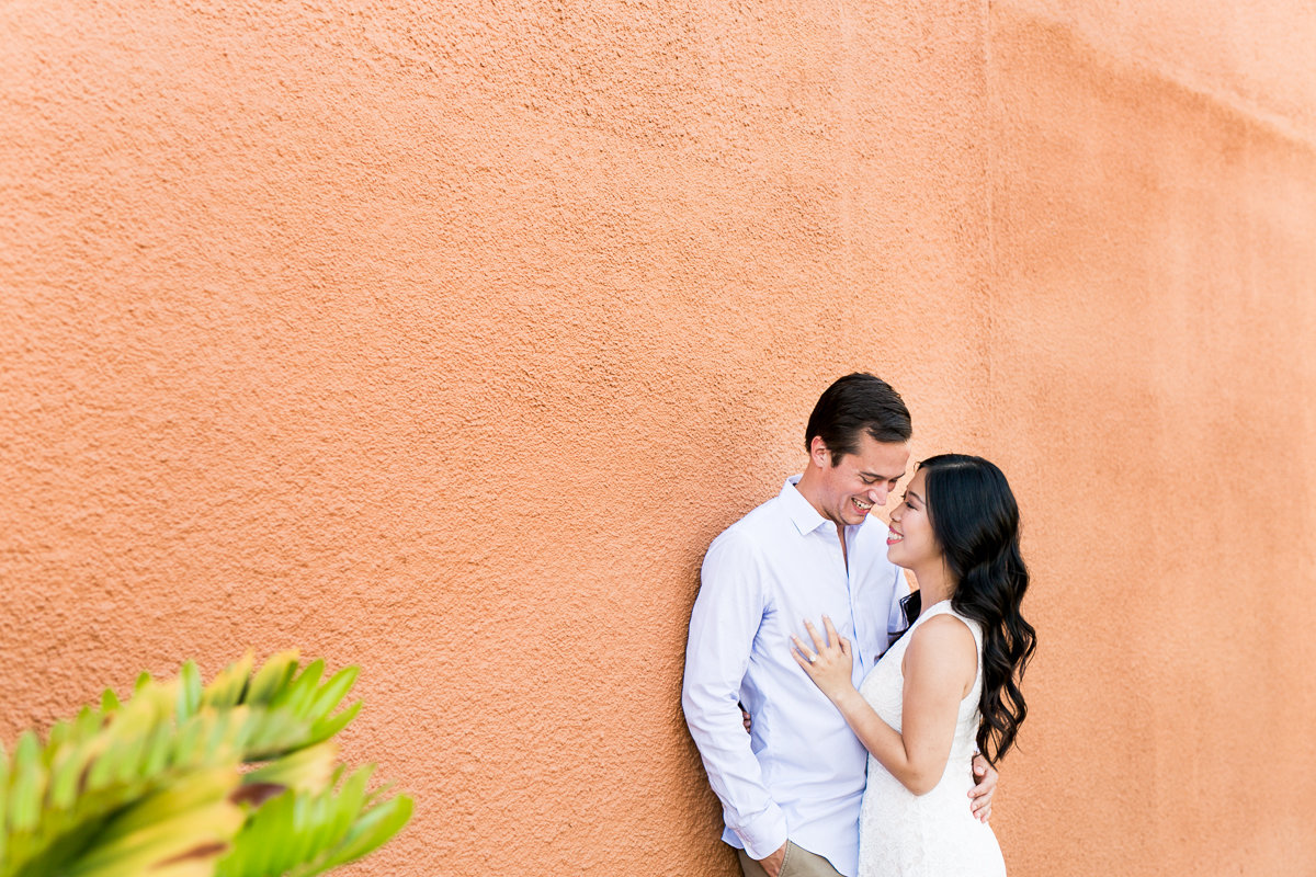 engagement session in downtown winter garden
