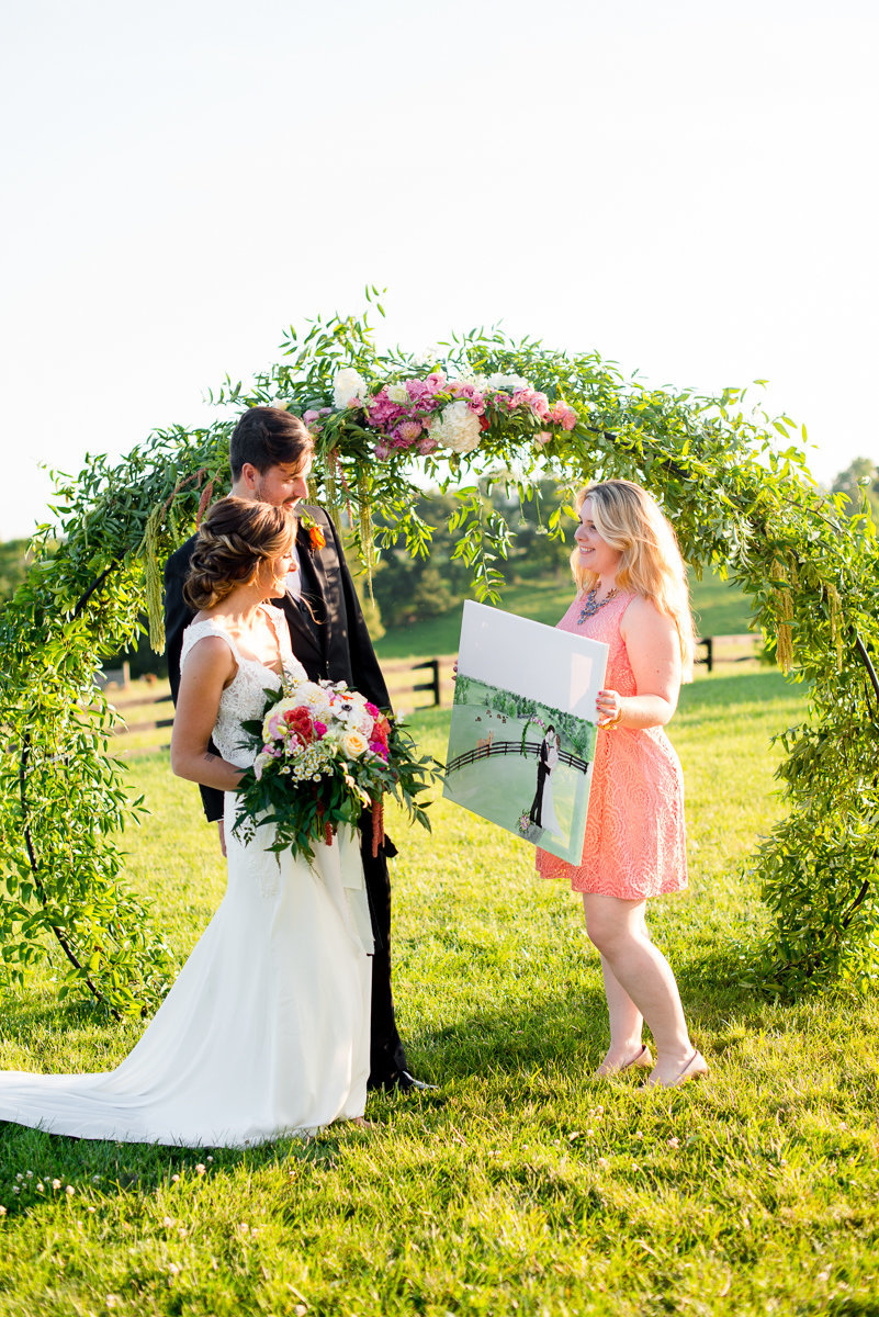Shadow Creek Loudon County Virginia Live Wedding Painting By Brittany Branson