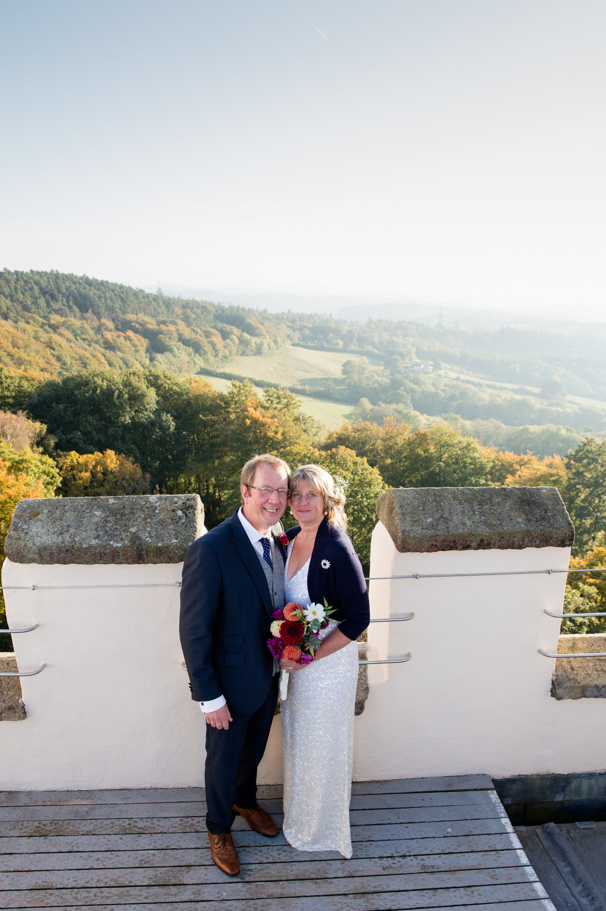 haldon belvedere wedding on the roof