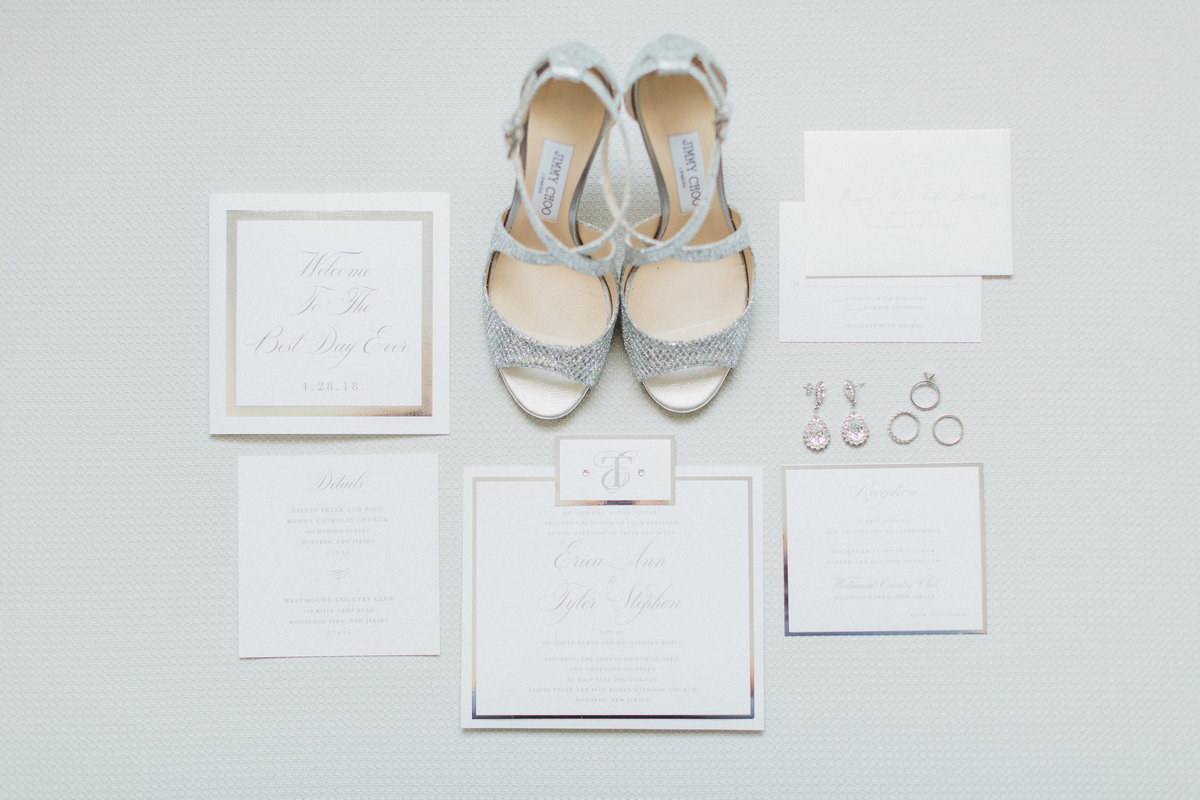 Westmount Country Club white modern New Jersey wedding 17