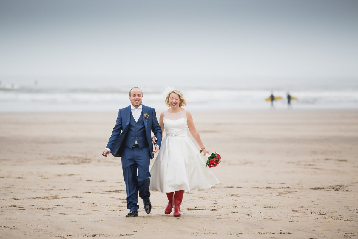 wedding on saunton sands beach