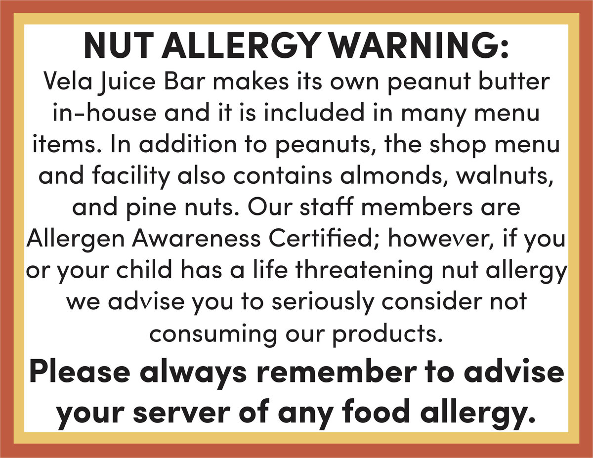 Nut Allergy Awareness Sign