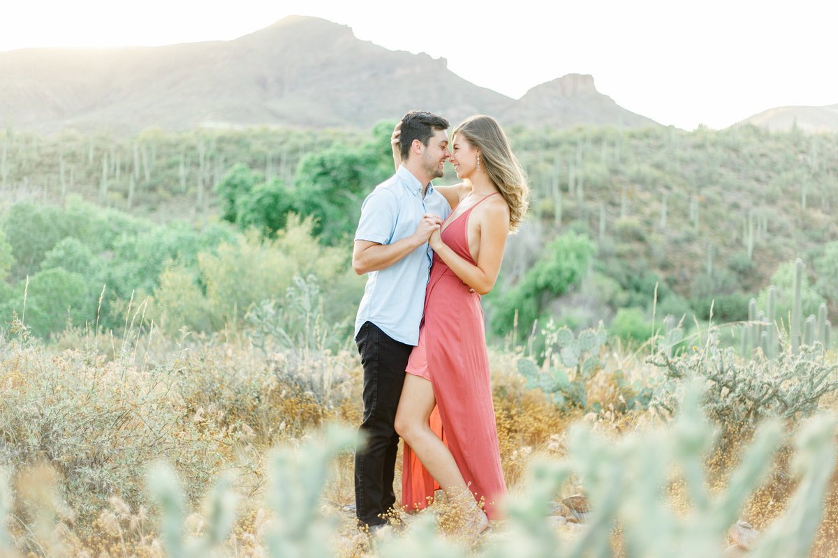 Karlie Colleen Photography - Arizona Desert Engagement - Brynne & Josh -163