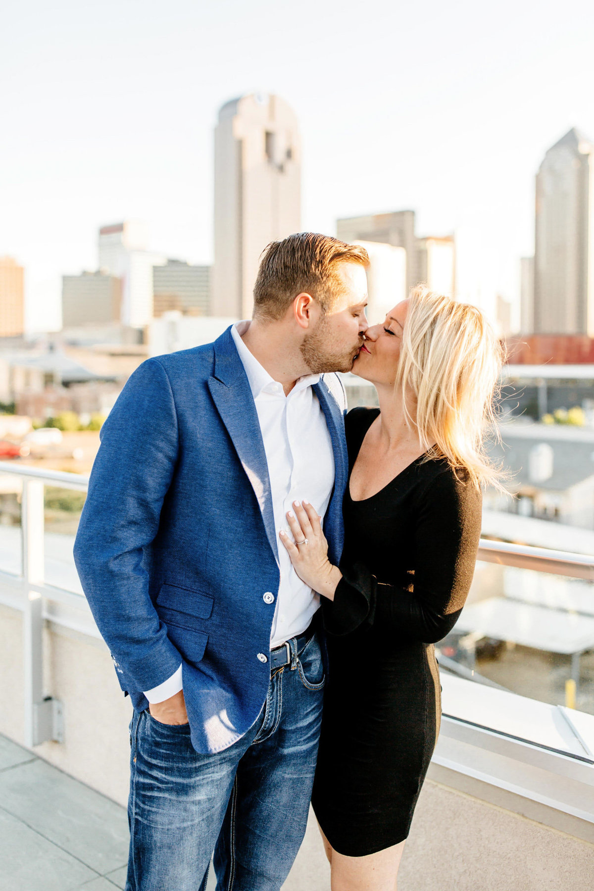 Eric & Megan - Downtown Dallas Rooftop Proposal & Engagement Session-64