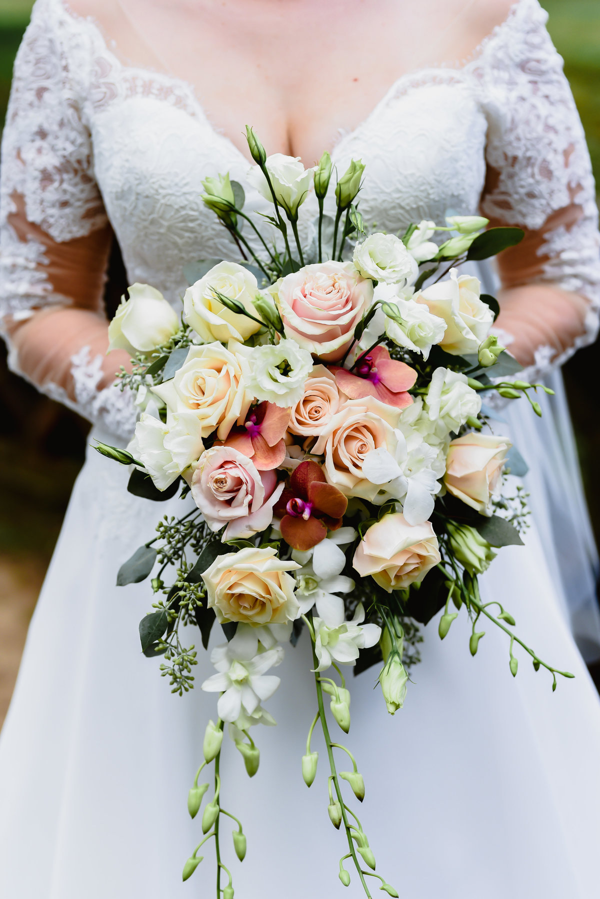 Lovely and colorful wedding bouquet