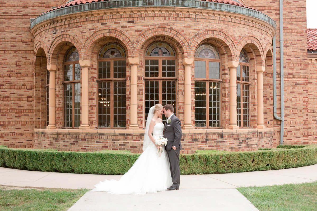 Mint and Blush Nazareth Hall Fall Wedding with First Look by Toledo and Detroit Based Wedding Photographers Kent & Stephanie Photography_0872