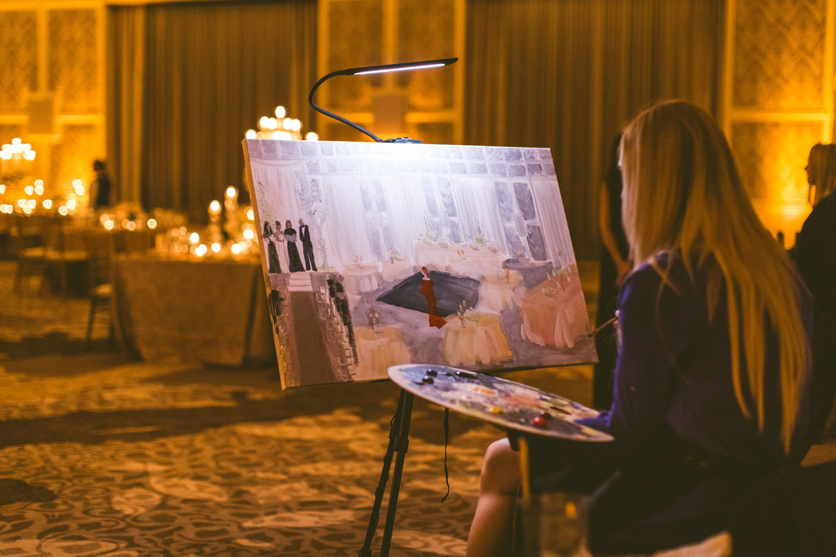 live painter wedding