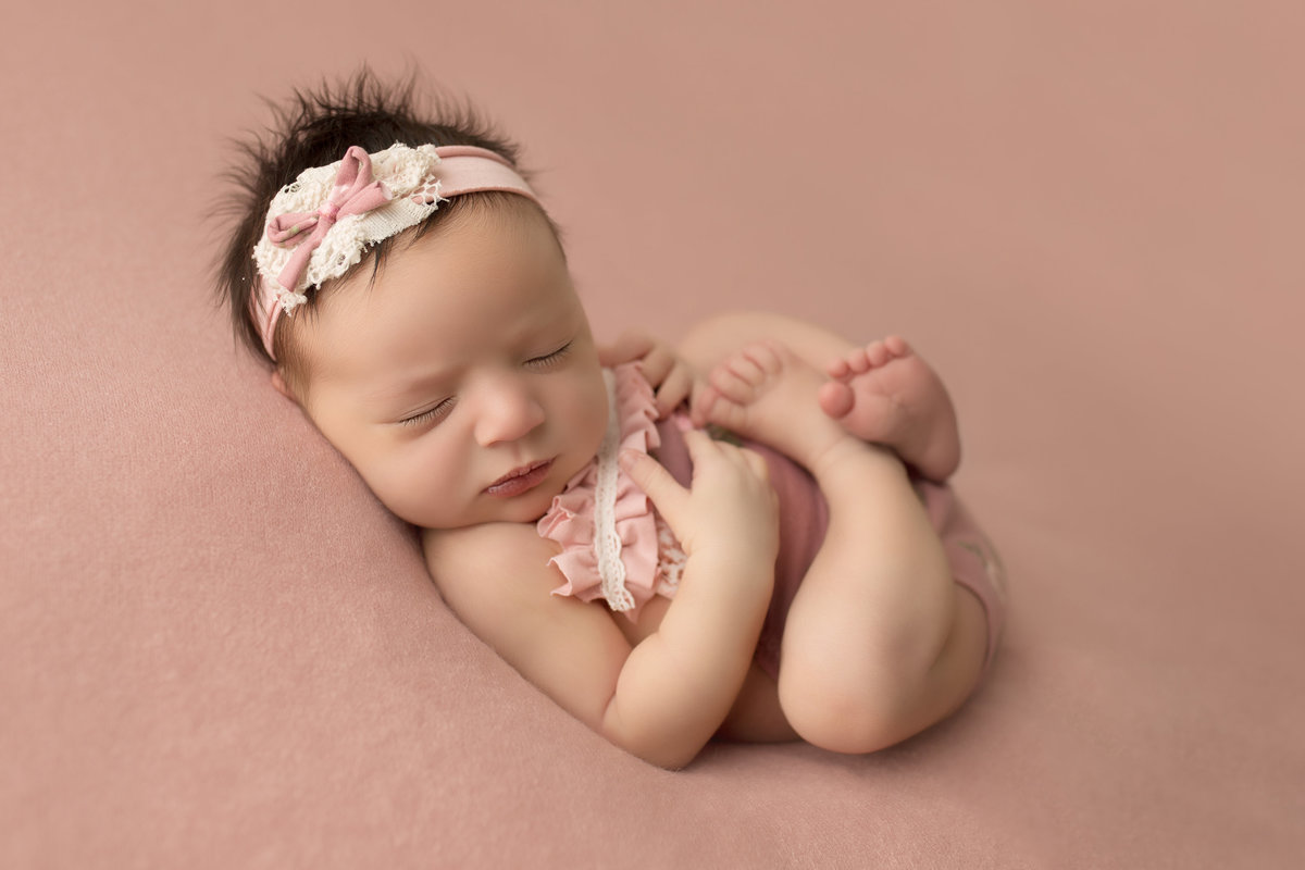 pink outfit newborn baby girl
