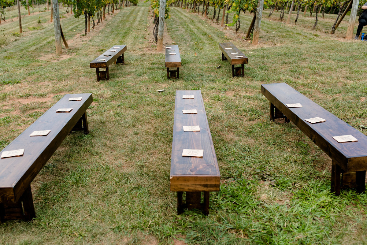 ceremony benches