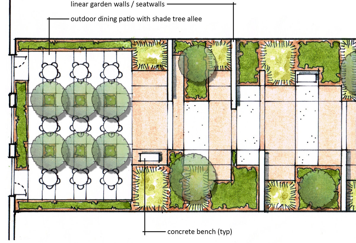 Northwest Middle School - Eastern Courtyard Schematic