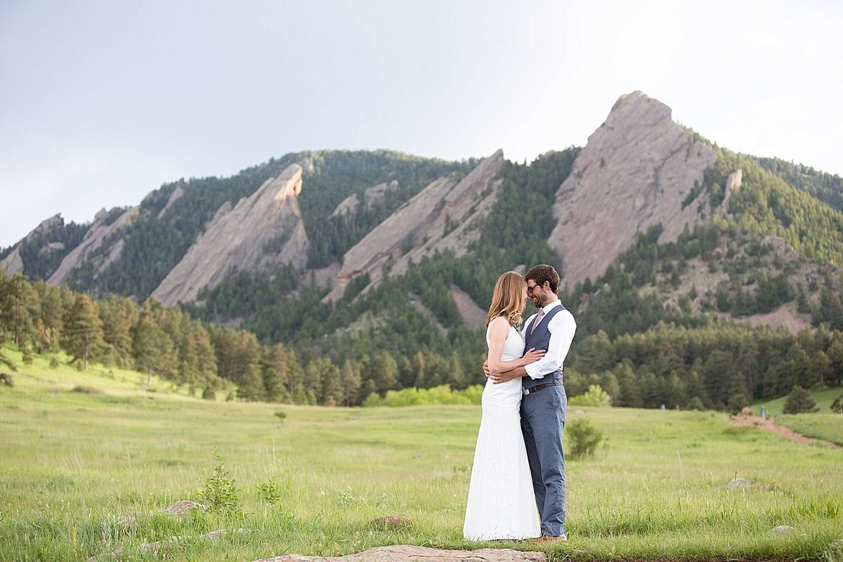 Chautauqua Boulder Wedding
