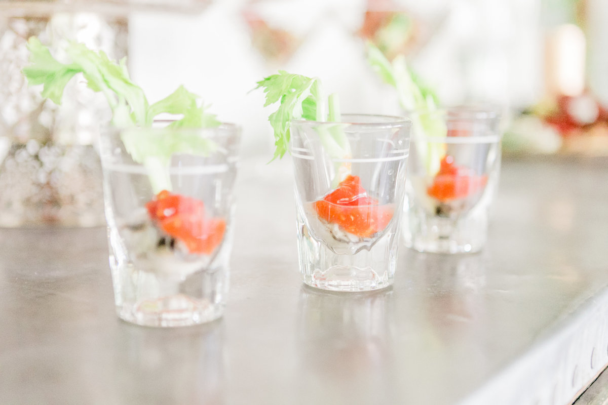 Oyster Shooters On The Vine Catering