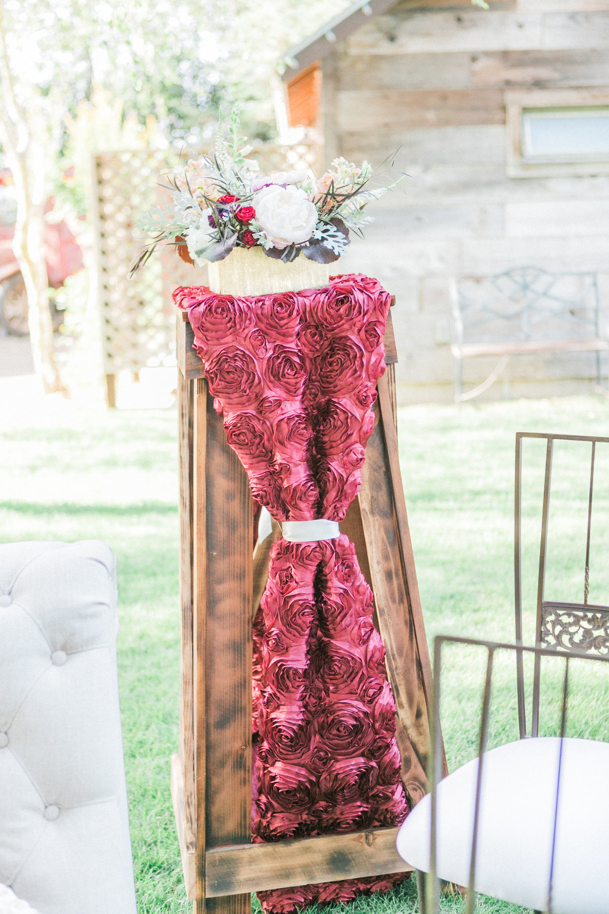 Marsala Accent Furniture Outdoor Event Decor