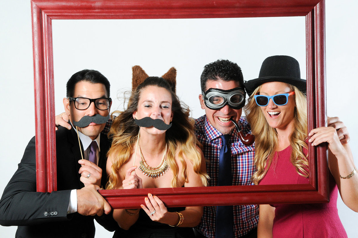 0018-Photo-Booth-Rental-at-Wedding-Reception-Guests-Having-Fun