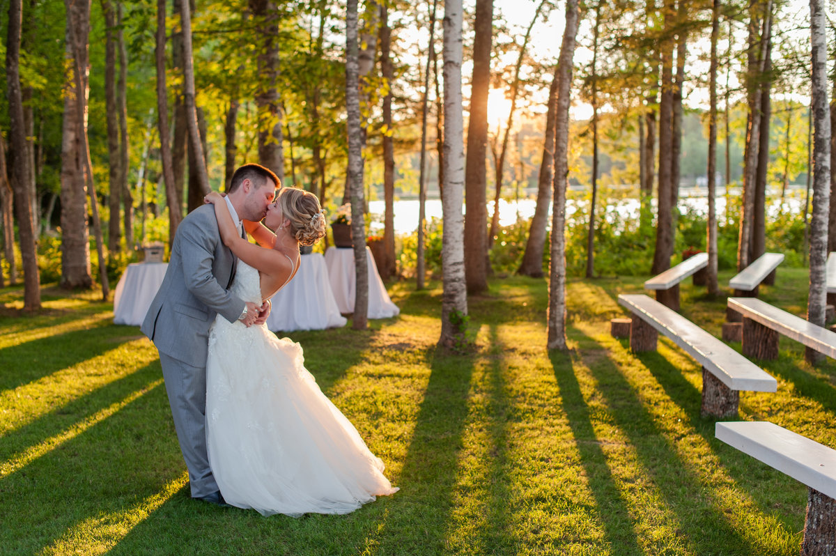 outdoor lake sebasticook wedding