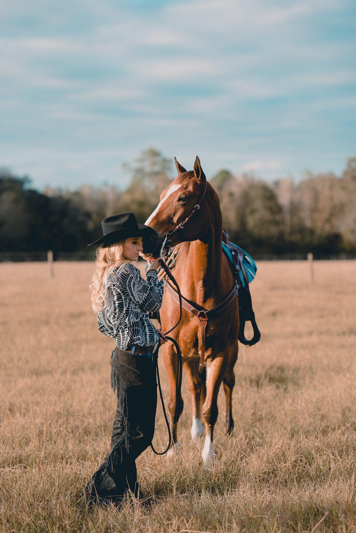 Intimate and casual horse and rider styled session in Gainesville, FL by horse photog
