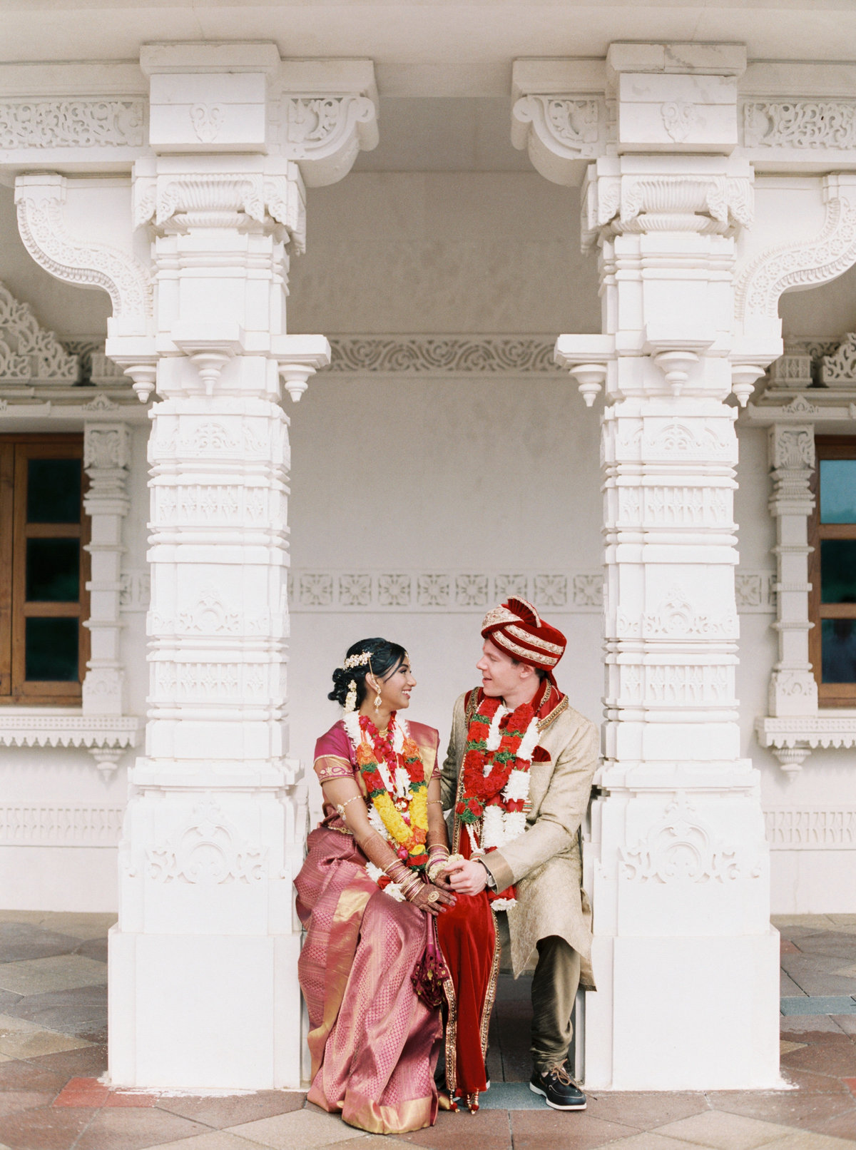 Kavya + Eric Couple Portraits BAPS Mandir Atlanta Wedding 044