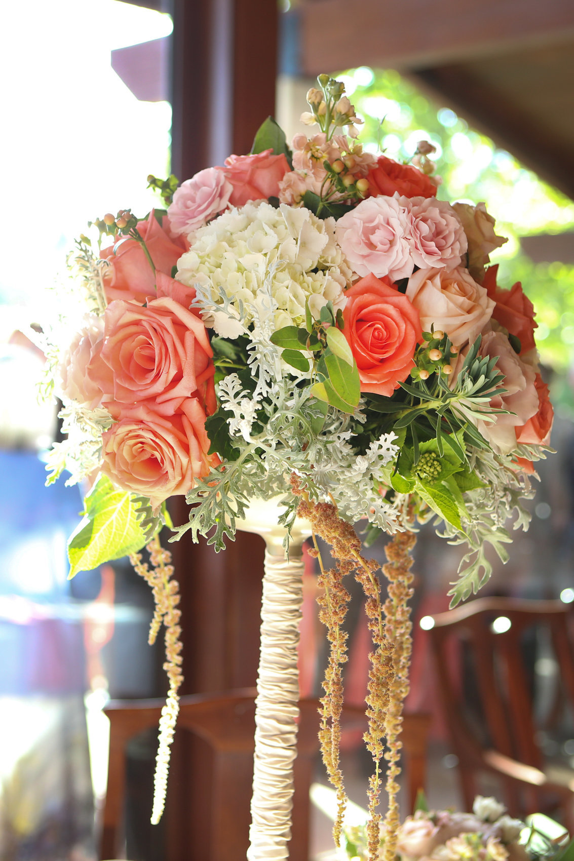 Northern california wedding in los altos, colorful image of bouquet