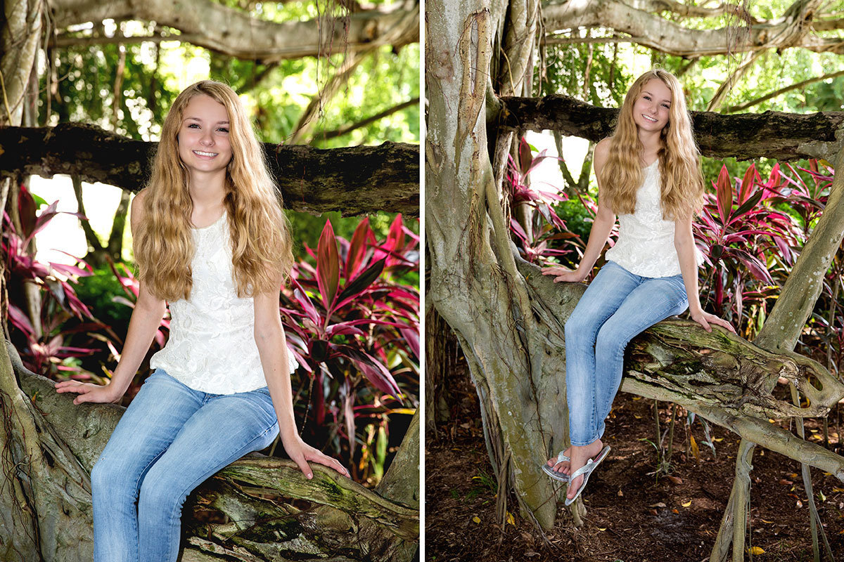 garden of hope and courage senior portrait