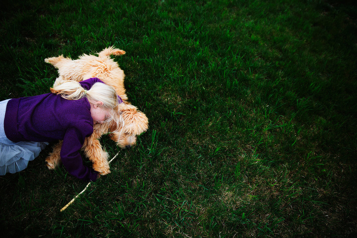 summer kellogg photography;fine art; fine art photography;girl and her dog;goldendoodle