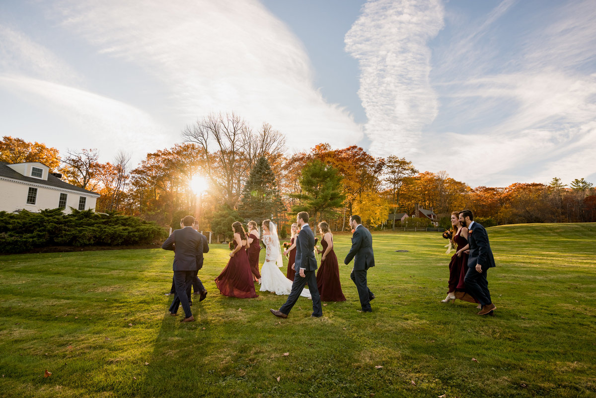 sunset ceremony in outdoor venue NH