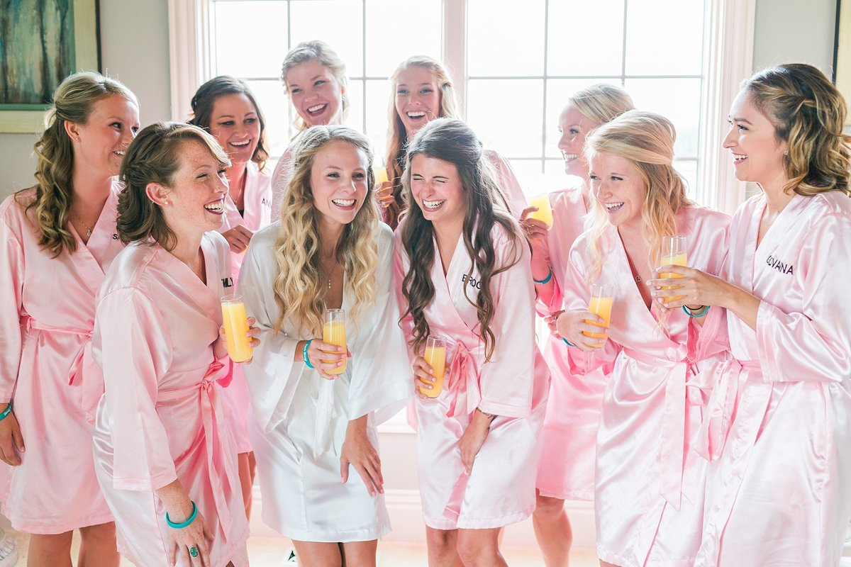 bridesmaids getting ready robes