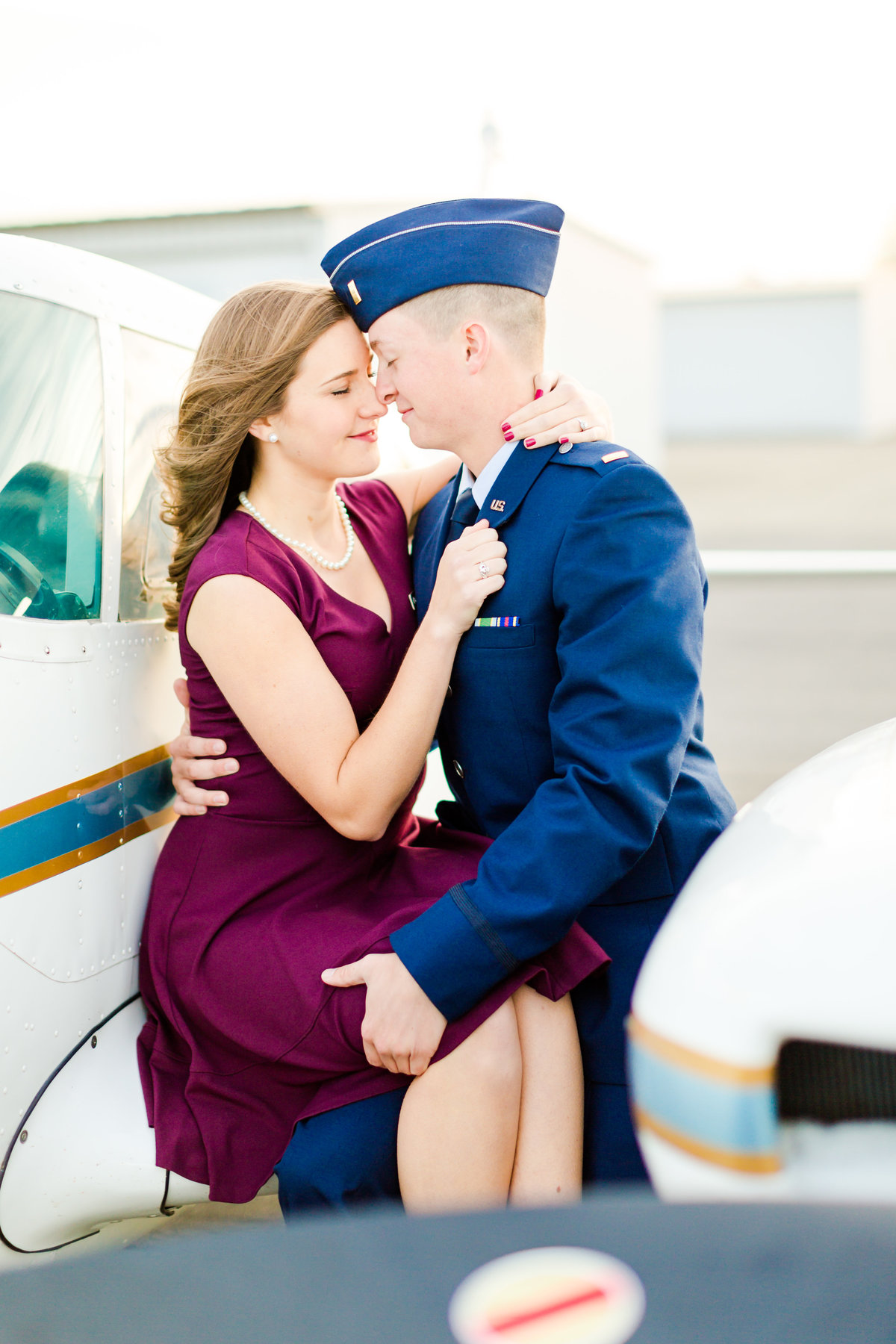 Airport Engagement Session Air Force Engagement Session at Shenandoah Valley Regional Airport in Weyers Cave, Virginia Emily Sacra Photography-47