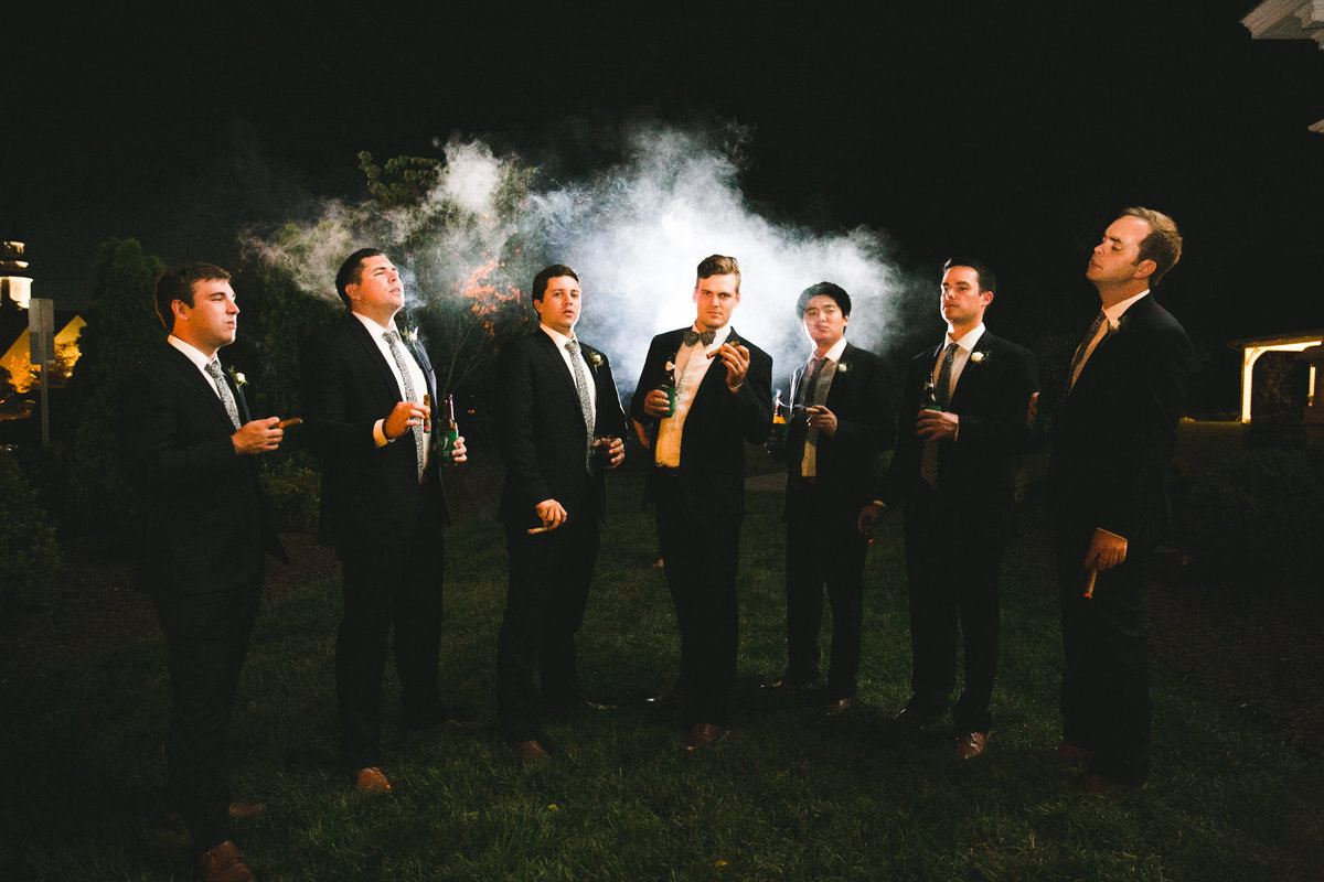 groomsmen at The Merrimon-Wynne House