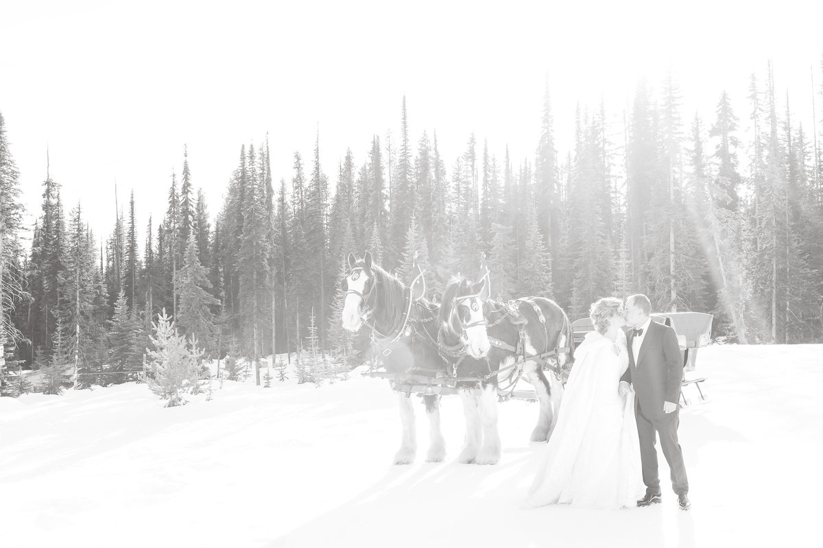 Big White Winter Wedding