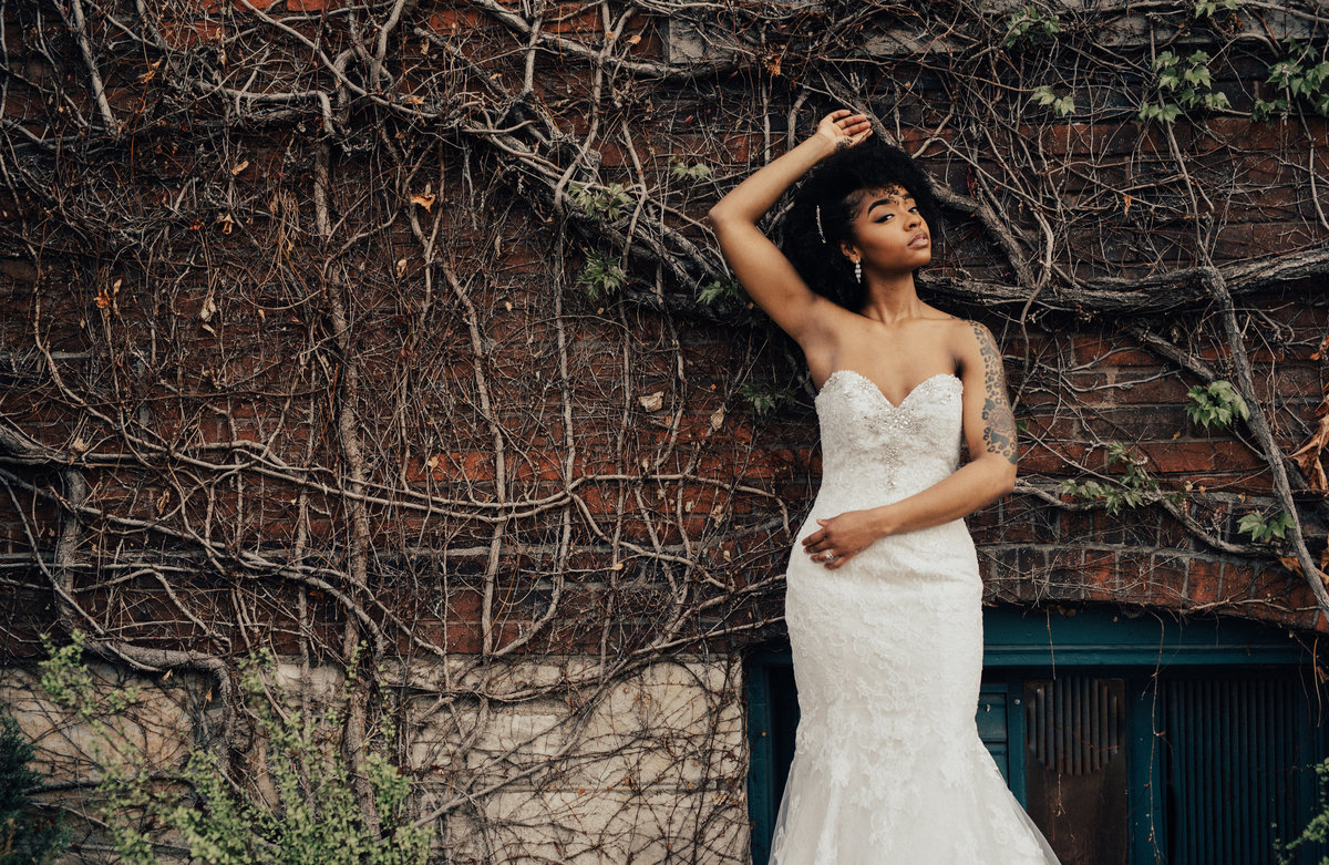Wonderful styling for this bride in downtown KC
