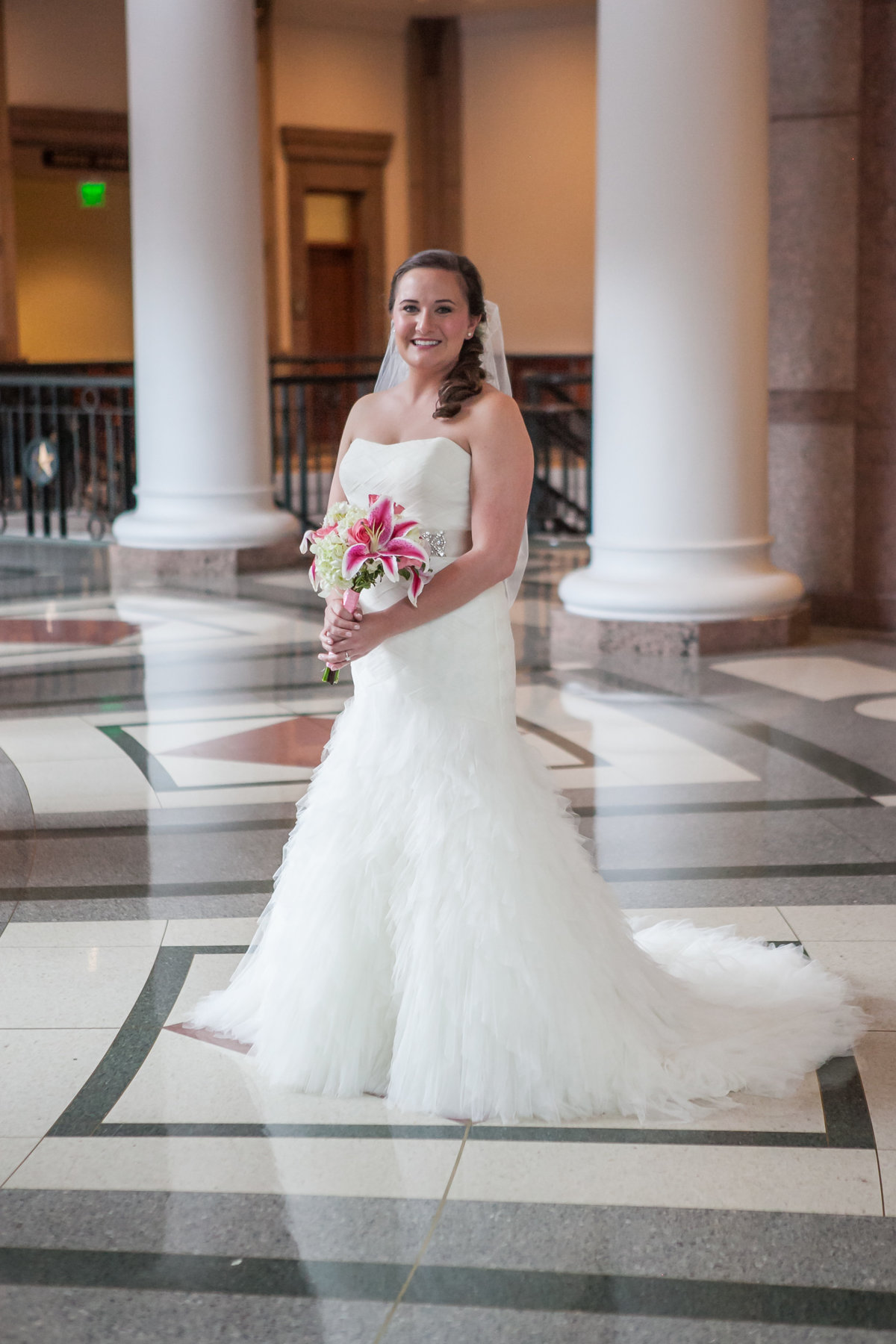 Austin Family Photographer, Tiffany Chapman, bride in state capital building  photo