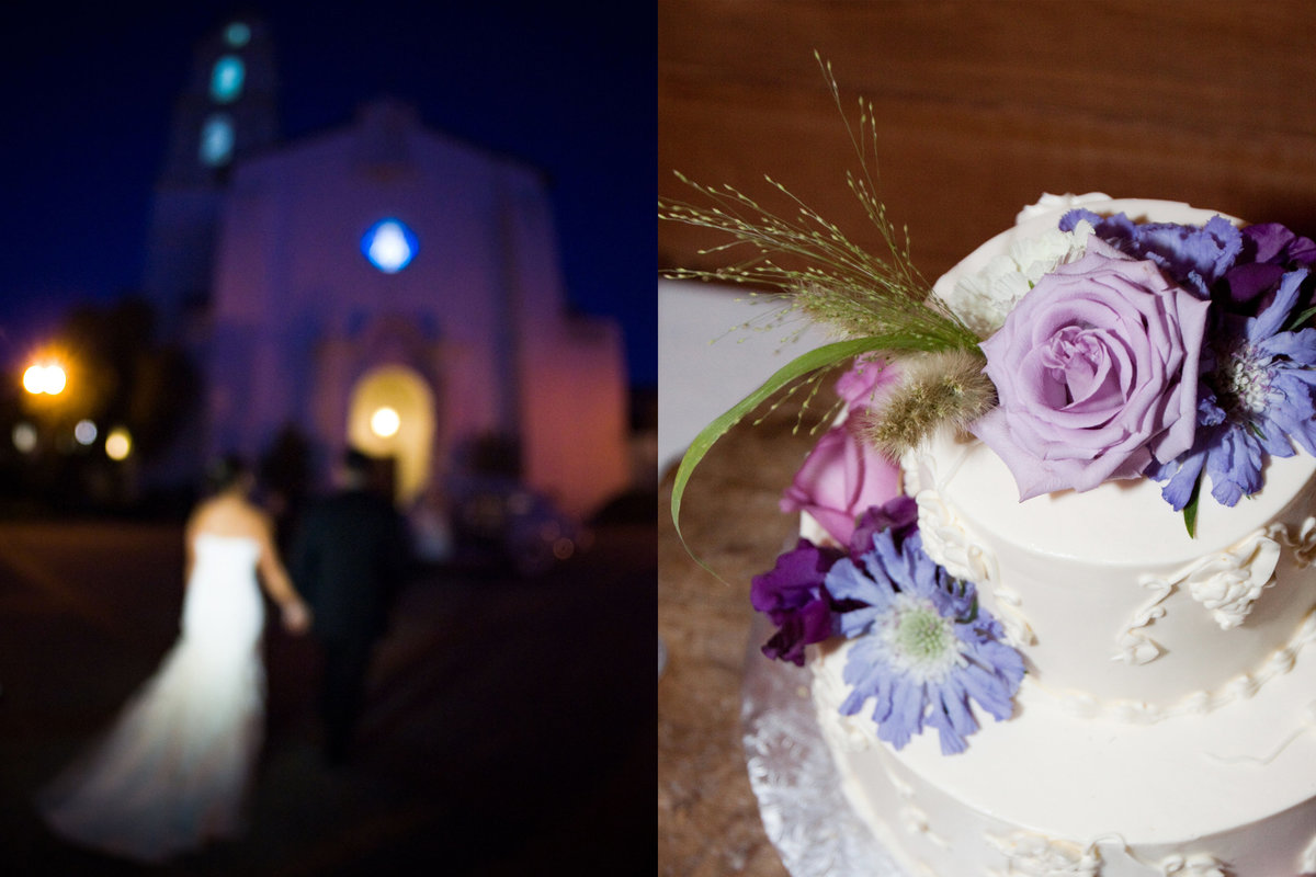 St. Mary's Chapel, St. Mary's Chapel bride and groom, St. Mary's Chapel at night, wedding cake, Jennifer Baciocco Photography