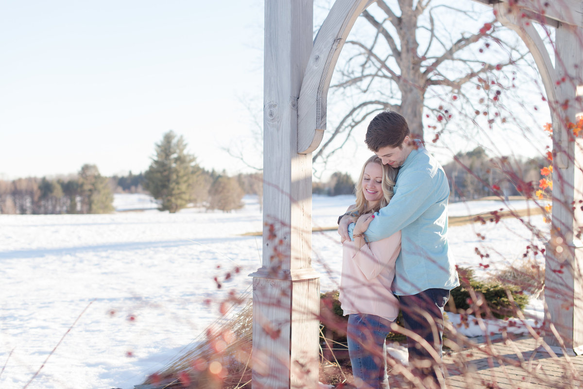 PVCC winter engagement photos in maine