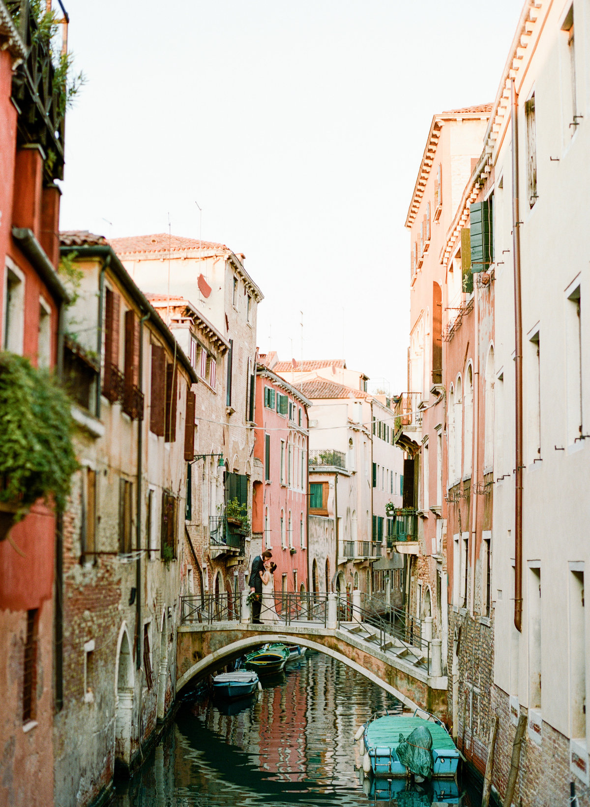 venice italy destination wedding elopement couple over canal
