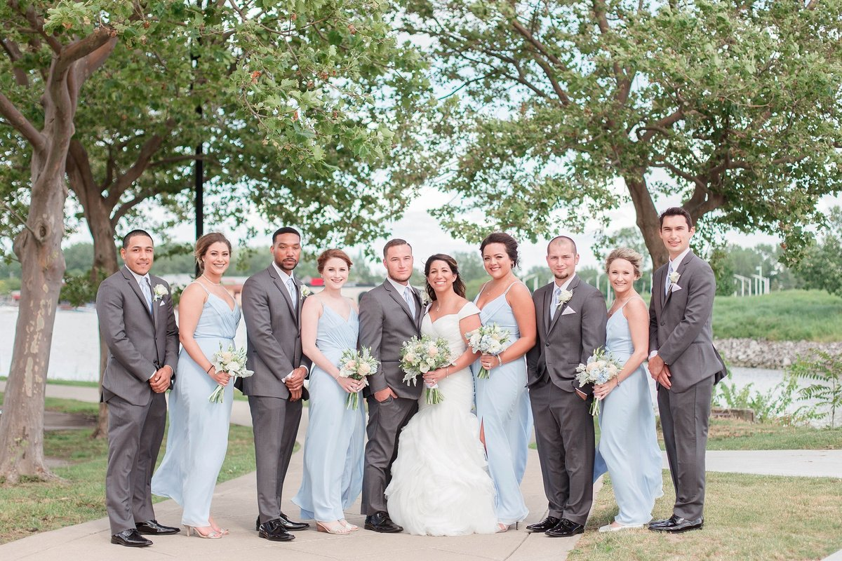 Baby Powder Blue and Blush Summer Park Inn Wedding with First Look by Toledo and Detroit Based Wedding Photographers Kent & Stephanie Photography_1025