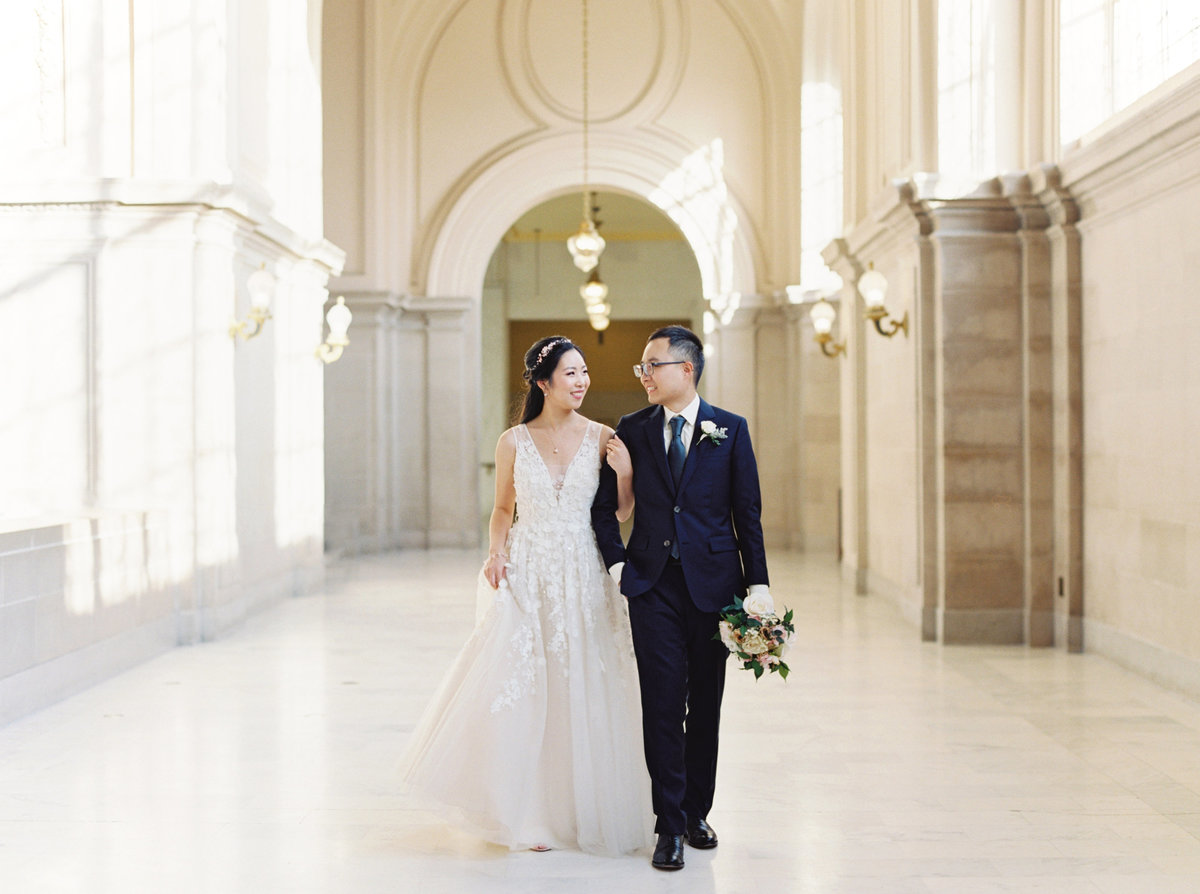 Amelia + Alvin San Francisco City Hall Wedding - Cassie Valente Photography 0084